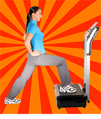 Woman on Vibration Exercise Machine